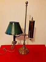 Belle lampe ancienne a quinquet d 'horloger toute en laiton à système, 19 eme