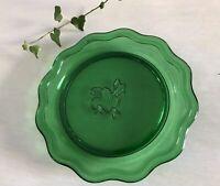 Teller Platte Schale grün Pressglas Vintage 60er? Glasschale
