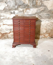 Antique multi drawer cabinet collections small objects stamps coins intaglios