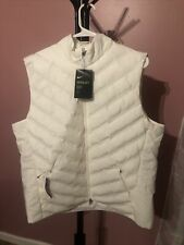 Nike Women's Aeroloft Repel Golf Gilet Vest White Av3706-133 Size L