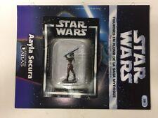 star wars figurine en plomb aayla secura n39/60 neuve blister fascicule atlas