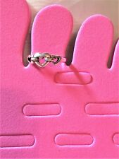 Adjustable Toe Ring #917 Antiqued Sterling Silver 3 Heart