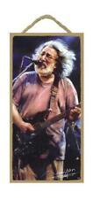 "JERRY GARCIA Grateful Dead Primitive Wood Hanging Plaque 5"" x 10"""