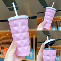 NEW China Starbucks 2021 Summer Pink Diamond Tumbler Pineapple Straw Cup 16oz