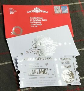 Lapland Reveal Boarding Pass Ticket Invitation Santa Personalised Invite Letter