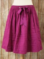 Odille Anthropologie Drawing Parallels Full Skirt Womens Medium Magenta Pink