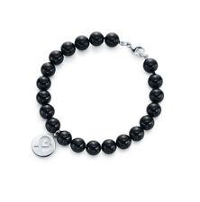 NEW Tiffany & Co. Loving Heart Black Onyx Bead Bracelet Paloma Picasso $325