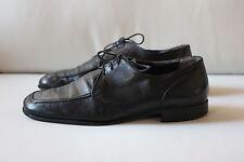LEOMBRUNI Herren Schuhe Schnürschuhe Größe 41 Cherro Leder schwarz