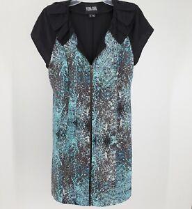 Women's Vena Cava Silk Front Zip Dress Size 2