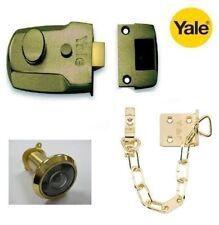 YALE 60mm P77M/ENB NIGHT NIGHT NIGHTLATCH LOCK CASE ONLY WITH CHAIN & SPY HOLE