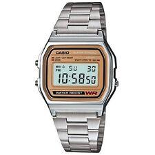 Casio Retro Old School Throwback Style 1980's Stainless Digital Quartz Watch NEW