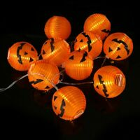 1.2M Halloween Pumpkin String Fairy LED Lights Party Decor Hanging Prop Lamp DY
