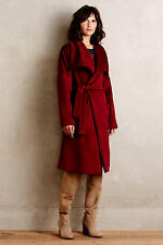 NEW ANTHROPOLOGIE $398 BURGUNDY CAPULET FULTON ROBE COAT SZ XS/P XS PETITE