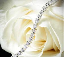 2.00 CARAT ROUND CUT NATURAL REAL DIAMOND BRACELET G/SI 14K WHITE GOLD