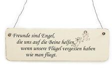Vintage Deko Schild Türschild FREUNDE SIND ENGEL Shabby Nostalgie Landhaus Holz