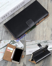 For Various Mobile Phones Luxury Genuine Leather Flip Stand Case Wallet Cover
