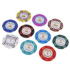 10PCS Lucky Poker Chip Coin Toys Casino Chips Games Chips Toys Collectibles