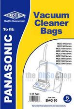 5x PANASONIC Vacuum Cleaner Bags U-2E TYPE U20E, U20AB,  MCE42N, MCE43N,  MCE44