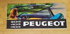 Peugeot Gamme 1965 - Dépliant Brochure (Modèles 204 403 404 D4B)
