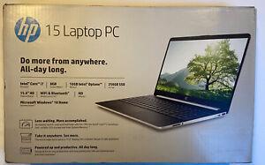 "NEW HP Laptop 15.6"" HD Intel Core 11th Gen i7 256GB SSD 8GB RAM Win 10 Home"