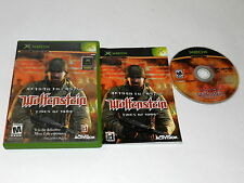 Return to Castle Wolfenstein Tides of War Microsoft Xbox Video Game Complete