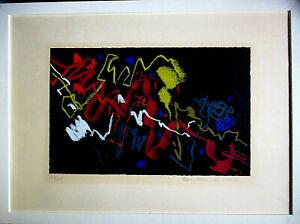 MAX ACKERMANN >Lebhaft Bewegtes< HAND-SIGNIERT, 81/100,1960,  50x70cm,mit Rahmen