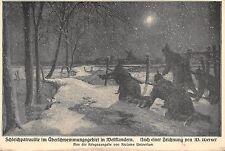AK Schleichpatrouille im Überschwemmungsgebiet in Westflandern Feldpost 1915