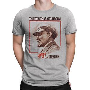 LENIN Truth Stubborn Mens ORGANIC T-Shirt Soviet Union USSR Communist Revolution