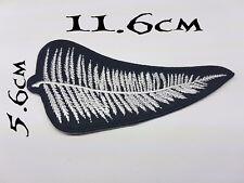 Quality Iron/Sew on Silver Fern NZ biker patch Harley Davidson New Zealand leaf