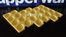 Tupperware Egg Tray Inserts Egg Deviled Set of 3 Yellow New in Package