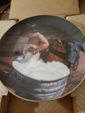 "Collector Plate By Danbury Mint "" Clean As A Whistle"" By Jim Daly plate# B6026"