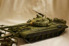 Pro-built plastic military model of Soviet T72, scale 1/35
