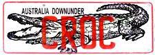 Australia Downunder 'CROC' Novelty Number Plate
