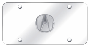 For 3D ACURA Front Mirror Chrome Finish Stainless Steel License Plate Frame 1PCS