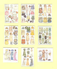 SET OF HAND-MADE DOLLS' HOUSE 1/12TH SCALE EDWARDIAN PAPERDOLL SHEETS