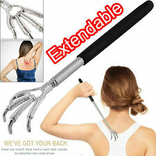Eagle Claw BACK SCRATCHER Metal Telescopic Extendable Portable Black Massager UK