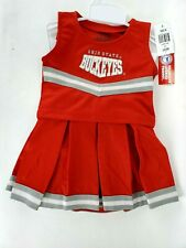 NEW Ohio State Buckeyes OSU Cheerleader 3-Piece Outfit Costume 12M-5/6T Dog