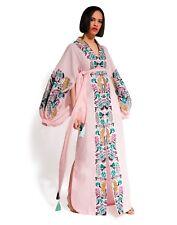 Ukrainian embroidered light pink dress boho style - ethnic vyshyvanka. All sizes