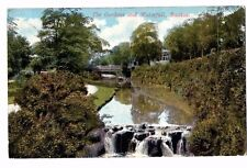 Derbyshire - Buxton, The Gardens & Waterfall - Postcard Franked 1907