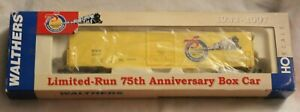 Walthers HO scale limited - run 75th Anniversary box car, 2007 part #932-95000