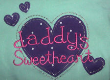 DADDY'S SWEETHEART JUMPING BEANS LONG SLEEVE LT BLUE TUNIC TEE COTTON 24 MONTHS