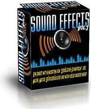 Sound Effects Vol 1 - ein Paket mit hunderten von Geräusche-Schnipseln