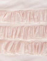 Shabby Chic Doona Duvet Quilt Cover Set Pink Ruffled Single Bed Girls