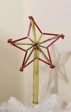 Vintage Rare Star Tree Top Mercury Glass Christmas Beads Tubes Antique Ornament