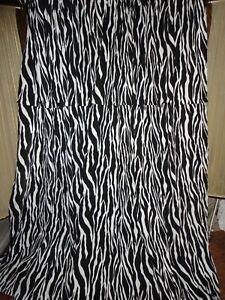 TARGET XHILARATION BLACK WHITE (PAIR) WINDOW PANELS 52 X 81 ANIMAL