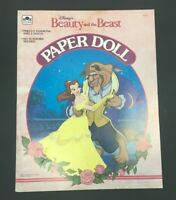 Beauty and the Beast Paper Doll Book 1675-1 Vintage Disney Uncut 1991