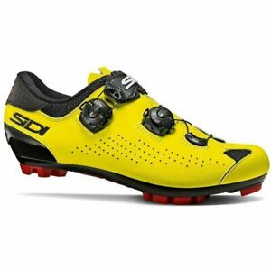 Sidi Eagle 10 MTB Mountain Bicycle Cycle Bike Shoes Black / Fluo Yellow
