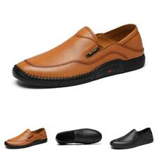 Mens Leisure Leather Shoes Driving Moccasins Pumps Slip on Loafers Business 44 L