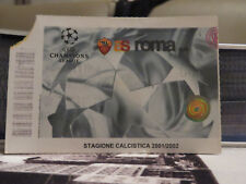 TICKET : AS ROMA - BARCELONA 2001/2002 CHAMPIONS LEAGUE