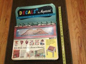 VINTAGE MEYERCORD DECAL ADVERTISING STORE DISPLAY METAL FRAME 1950S-70S DESIGNS